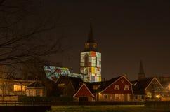 kyrka i specialt ljus i Nederländerna Royaltyfria Bilder