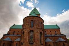 Kyrka i stad av Ringsted i Danmark royaltyfri bild