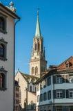 Kyrka i staden St Gallen, Schweiz Arkivfoton