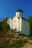 Kyrka i Staraya Ladoga Arkivbilder