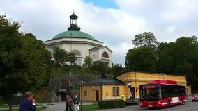 Kyrka i Stockholm sweden lager videofilmer