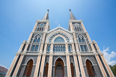 Kyrka i Thailand Arkivfoto
