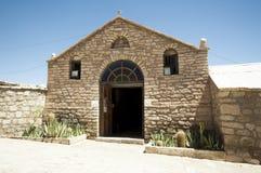Kyrka i Toconao, Chile Arkivbilder