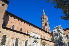 Kyrka i Toulouse, Frankrike royaltyfria foton