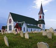 Kyrka i Treenighet i Newfoundland Royaltyfria Foton