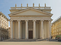 Kyrka i Trieste arkivbild