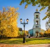 Kyrka i Tsaritsyno Arkivbild
