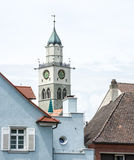 Kyrka i Ueberlingen Arkivfoto