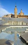 Kyrka i Zaragoza, Spanien Royaltyfri Bild