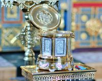Kyrka kyrkligt ortodoxt Arkivbild
