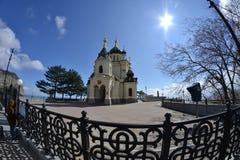 Kyrka nära byn av Foros crimea royaltyfria foton