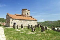 Kyrka nära Novi Pazar, Serbien Royaltyfri Fotografi