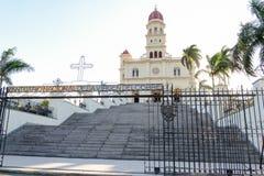 Kyrka och fristad för El Cobre Arkivfoto