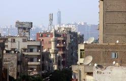 Kyrka och moské i Egypten fotografering för bildbyråer