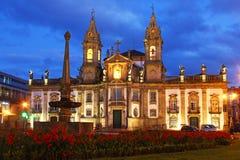 Kyrka och sjukhus av Sao Marcos, Braga, Portugal Fotografering för Bildbyråer