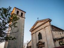 Kyrka och torn, Pula, Kroatien Fotografering för Bildbyråer