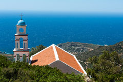 Kyrka ovanför havet Fotografering för Bildbyråer
