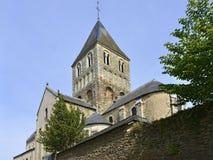 Kyrka på Château-Gontier i Frankrike Royaltyfria Foton