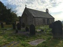 Kyrka på den kyrkliga ön Royaltyfri Fotografi