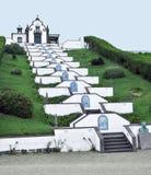 Kyrka på den SaoMiguel ön Royaltyfri Bild