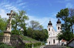 Kyrka på den Tihany abbotskloster, Ungern Royaltyfri Foto