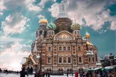 Kyrka på det spillda blodet, St Petersburg arkivbilder