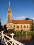 Kyrka på flodThemsen, England Royaltyfria Foton