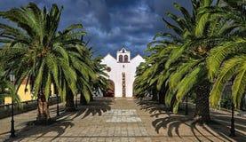 Kyrka på Garafia (La Palma, kanariefågelöar) 03 Arkivbilder