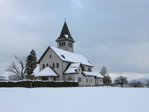 Kyrka på jul Arkivbilder