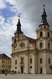 Kyrka på Marketplatz, Ludwigsburg Arkivfoto