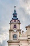 Kyrka på marknadsfyrkanten i Ludwigsburg, Tyskland Arkivbilder