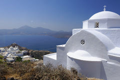 Kyrka på Milos Island, Grekland Royaltyfri Fotografi