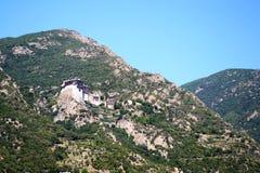 Kyrka på Mount Athos Royaltyfri Foto
