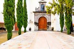 Kyrka på Puebla, Mexico royaltyfria foton