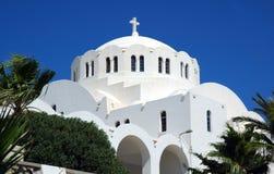 Kyrka på Santorini royaltyfria foton
