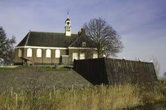 Kyrka på Schokland arkivfoton