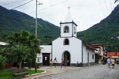 Kyrka på stora Ilha, Brasilien Royaltyfri Foto