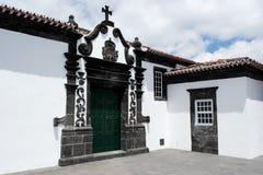 Kyrka Ribeira Quente, Portugal Royaltyfri Fotografi