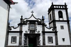 Kyrka Ribeira Quente, Portugal Arkivfoto