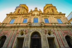 Kyrka San Luis Sevilla, Spanien Seville Espana arkivfoto