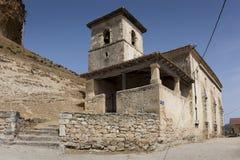 Kyrka San Pantaleon de Losa Arkivfoto