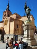 Kyrka Segovia royaltyfria bilder