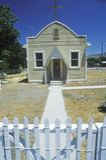 Kyrka som byggs i 40-tal i Olden Nevada Royaltyfri Bild