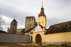 kyrka stärkte transylvania Royaltyfria Bilder