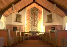 kyrkainsidaquiet arkivbilder