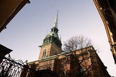 kyrkan斯德哥尔摩tyska 库存图片