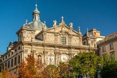 Kyrkan av ¡ rbaraen för jultomten BÃ eller kyrkan av Salesasen Reales är en katolsk tempel av den spanska staden av Madrid fotografering för bildbyråer