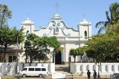 Kyrkan av Befruktning de Ataco på El Salvador arkivfoto
