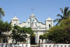 Kyrkan av Befruktning de Ataco på El Salvador Arkivfoton
