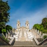 Kyrkan av Bom Jesus gör Monte i Braga, Portugal Arkivfoton